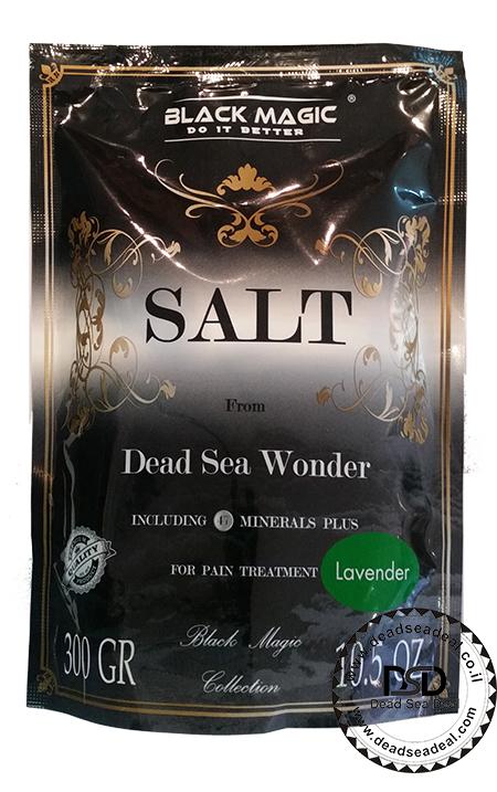 מלח אמבט ים המלח בלאק מגיק  300 גרם