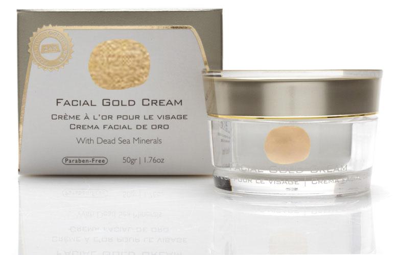 קרם פנים זהב מוצרי ים המלח