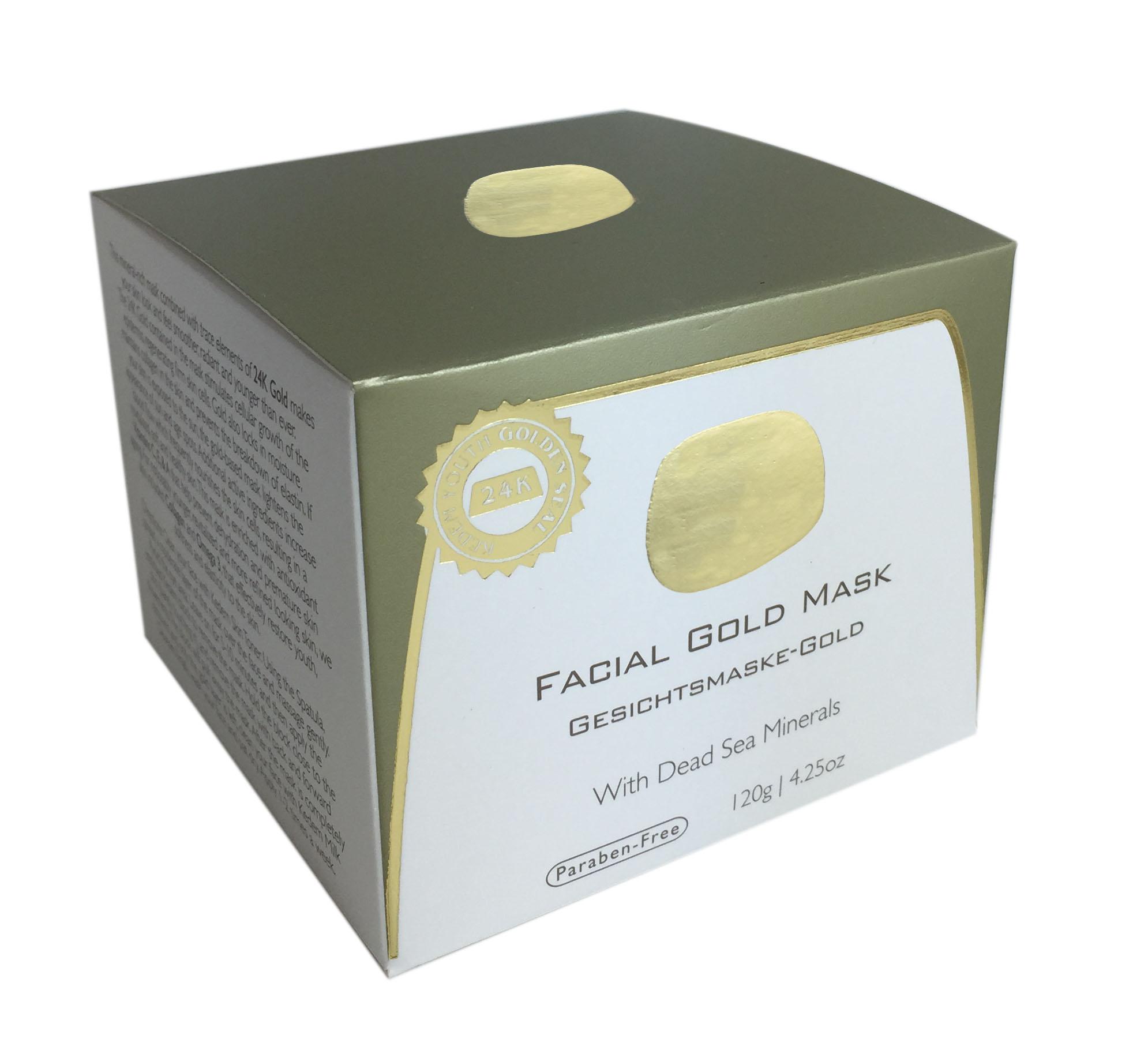 מסיכת זהב 24K מוצרי ים המלח
