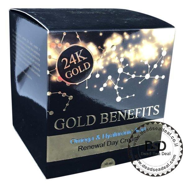 קרם יום זהב 24 קארט ים המלח
