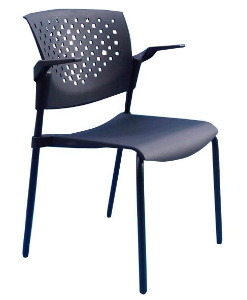כסא פלסטיק משרדי מעוצב לאורח נערם דגם פרפר