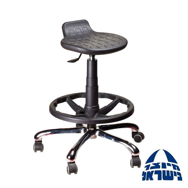 כסא טכנאי   פוליאוריטן בוכנה גבוהה וחישוק להנחת הרגליים