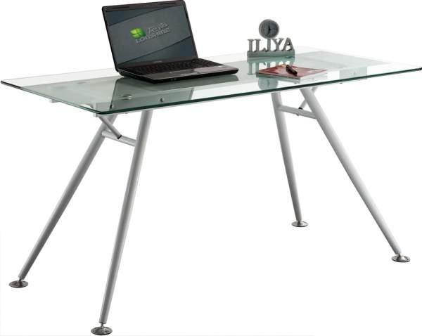 שולחן כתיבה זכוכית  שחורה או שקופה  מחוסמת בשילוב רגלי מתכת  מעוצבות