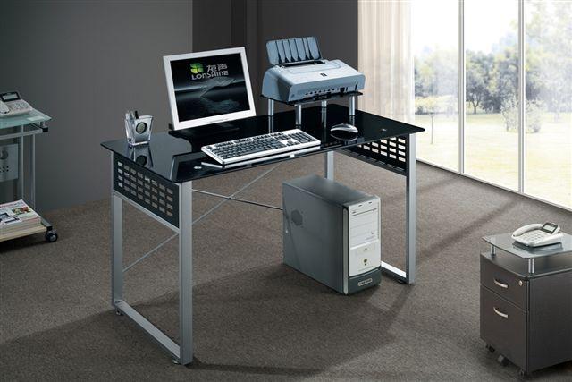 שולחן מחשב  זכוכית שחורה דגם דבלין