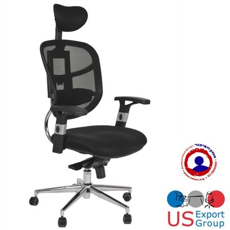 כסא מחשב ארגונומי גב רשת ומנגנון לשינוי גובה המשענת לתמיכה אורטופדית לפי גבוה המשתמש