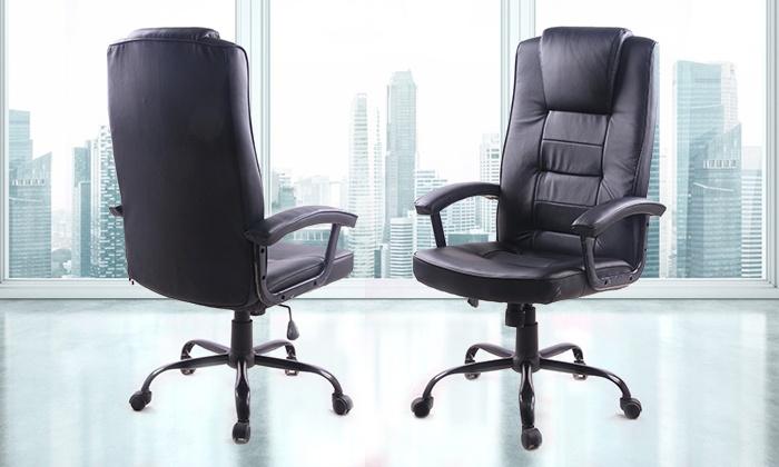 כסא מנהלים  ארגונומי  עם משענת גב גבוהה ותמיכה אורטופדית דגם ברוש