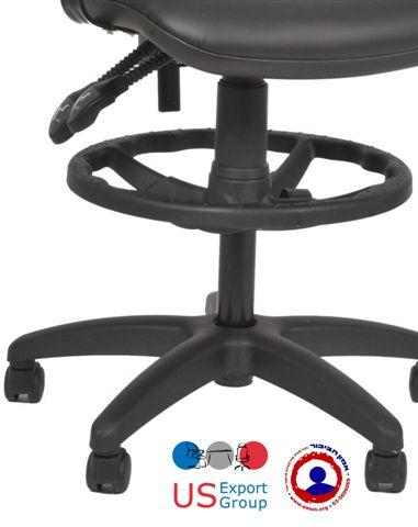 כסא משרדי למעבדות כולל טבעת ובוכנה גבוהה דגם ספיידר