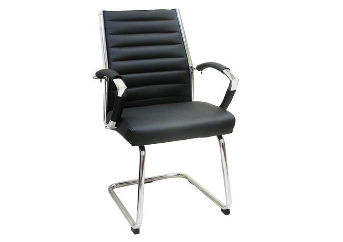 כסא המתנה לבן לחדרי ישיבות דגם מרטיני אורח
