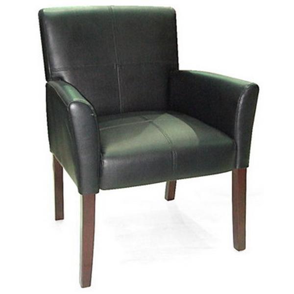 כסא אורח מפואר מעץ 4 רגליים בריפוד PU איכותי