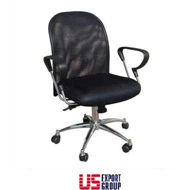 כסא למשרד/לחדר ישיבות גב רשת ובסיס ניקל  דגם סהרון