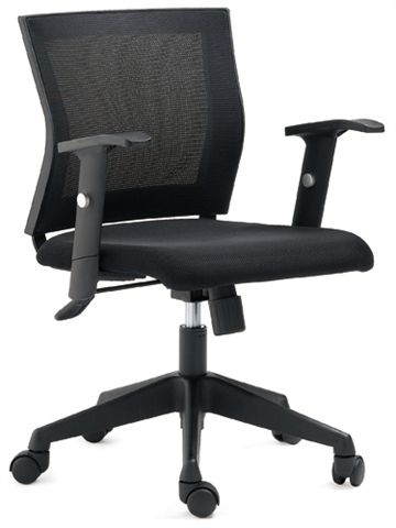 כסא משרדי לחדרי ישיבות ומחשב  גב רשת מרובע