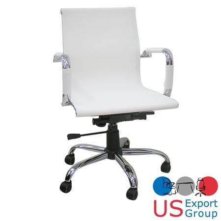 כסא חדר ישיבות לבן יוקרתי דגם אינטל