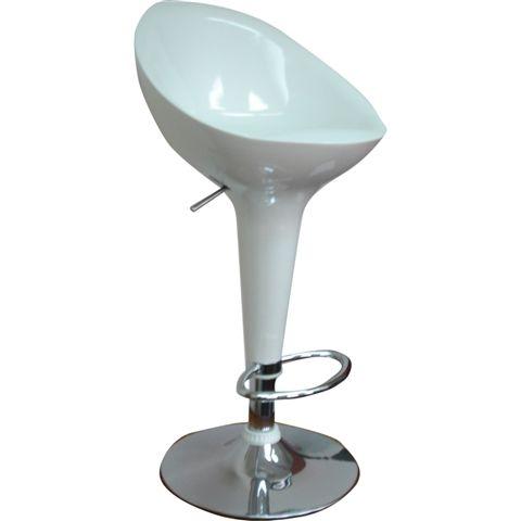 כסא בר מפלסטיק קשיח  למטבחים ומשרדים , משענת  גב