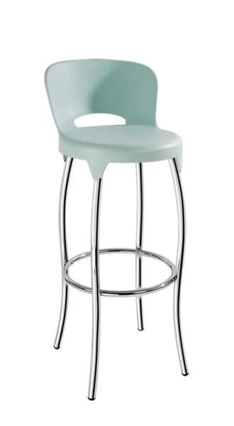 כסא בר למטבח גבוה מפלסטיק 4 רגלי מתכת דגם ליטל