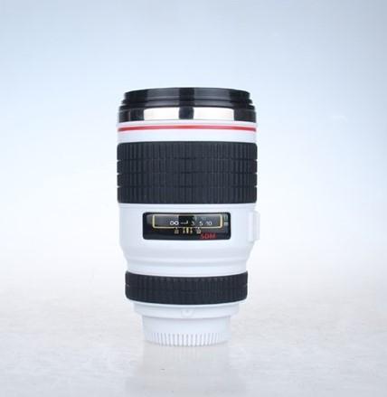 ספל שתייה  טרמוס בצורת עדשת מצלמה