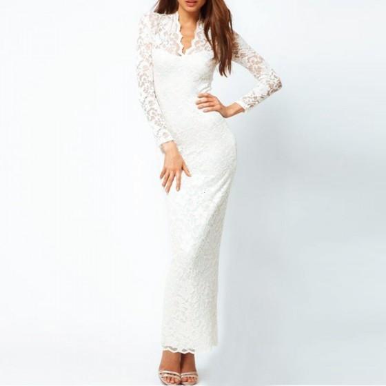 שמלת מקסי לערב - תמונה 3