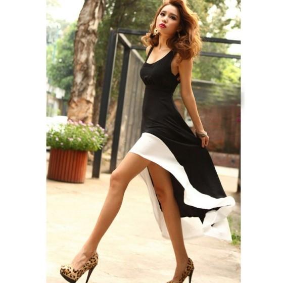 שמלה שחור לבן
