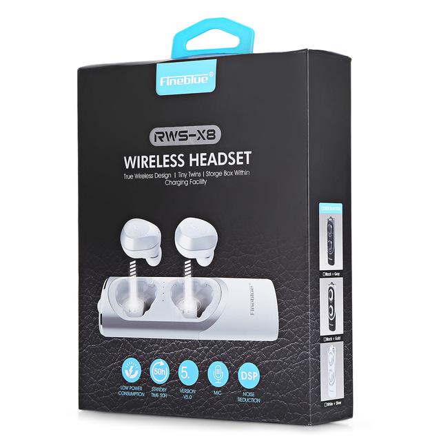אוזניות בלוטוס ללא חוטים FINEBLUE RWS X8