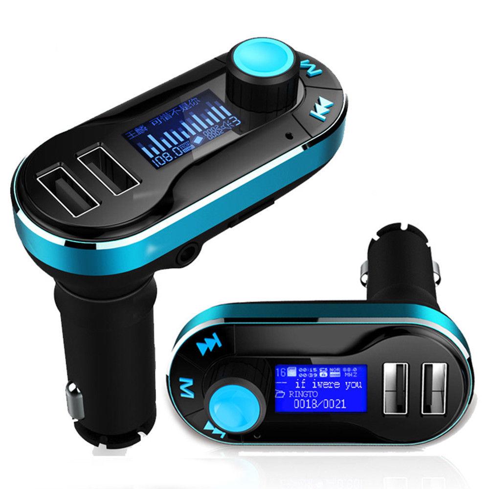דיבורית בלוטוס לרכב משדר FM עם 2 יציאות USB - תמונה 3