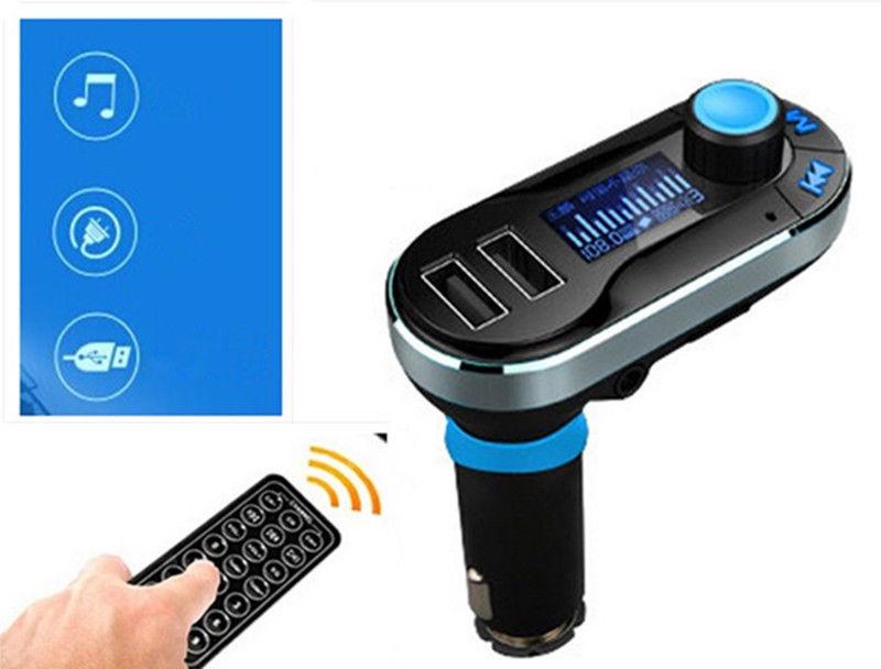 דיבורית בלוטוס לרכב משדר FM עם 2 יציאות USB - תמונה 5