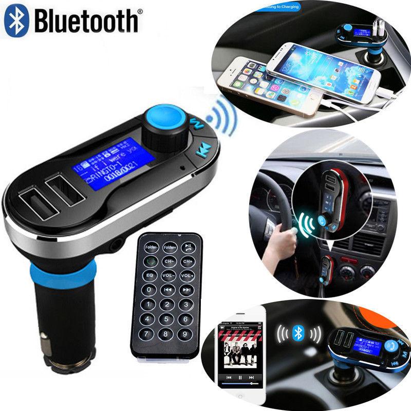 דיבורית בלוטוס לרכב משדר FM עם 2 יציאות USB - תמונה 2