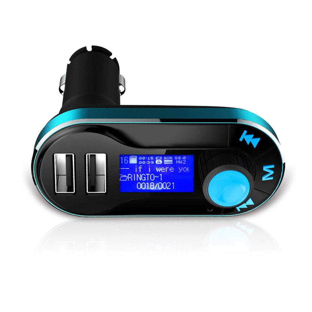 דיבורית בלוטוס לרכב משדר FM עם 2 יציאות USB - תמונה 4