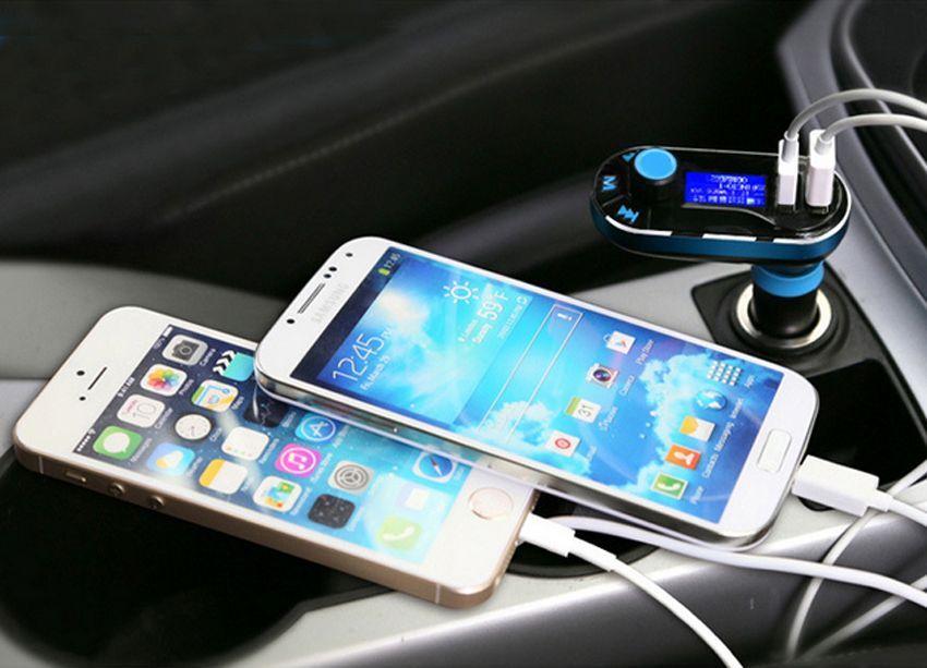דיבורית בלוטוס לרכב משדר FM עם 2 יציאות USB - תמונה 6