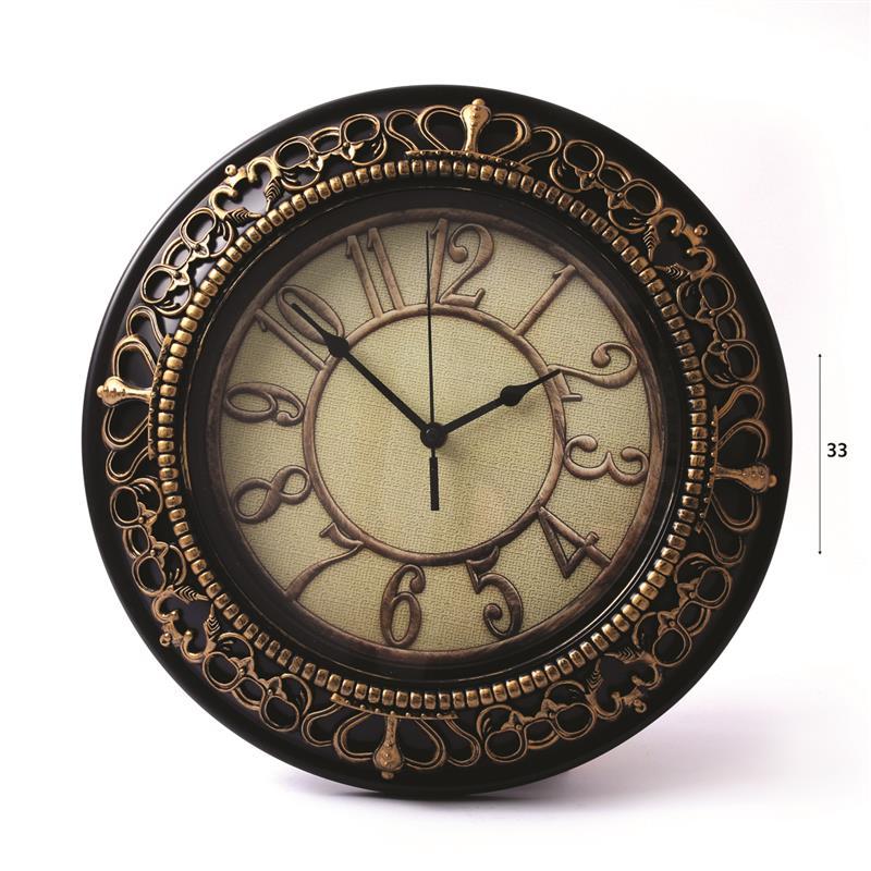 שעון קיר אנלוגי גדול יוטה בקוטר 33 ס