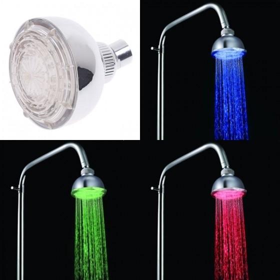 ראש למקלחת מחליף צבעים