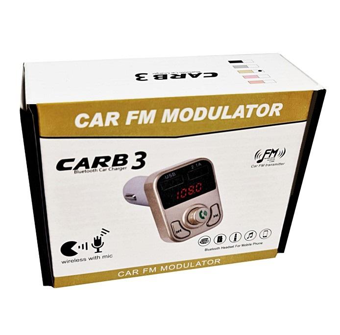 דיבורית בלוטוס לרכב משדר FM עם 2 יציאות USB
