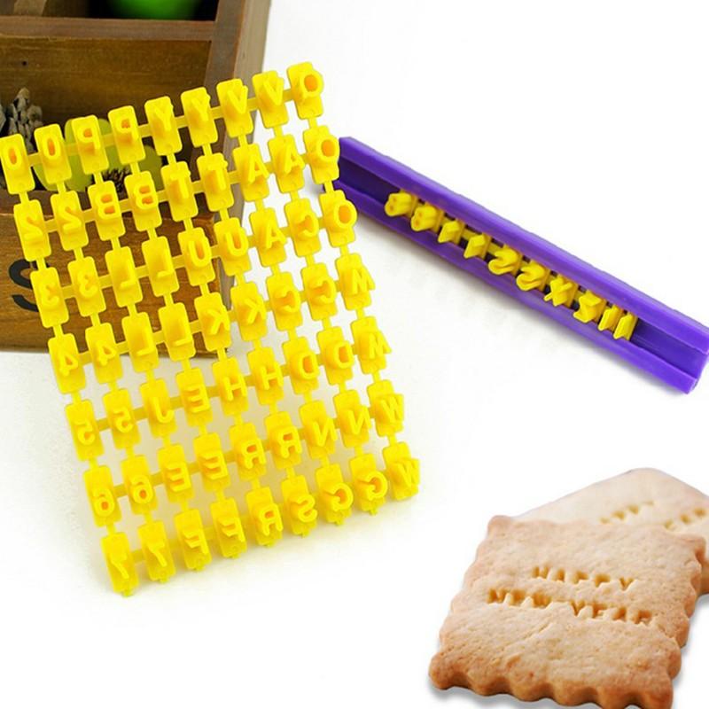 חותמת אותיות ומספרים לעוגיות