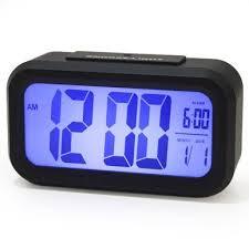 שעון מעורר דיגיטלי תצוגת ספרות גדולה וחיישן תאורה עדינה ללילה