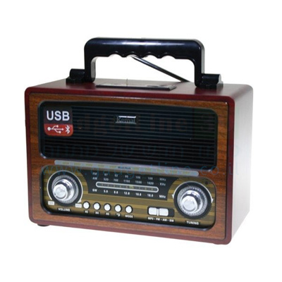 מערכת להשמעת מוזיקה בעיצוב רטרו כולל נגן ורדיו