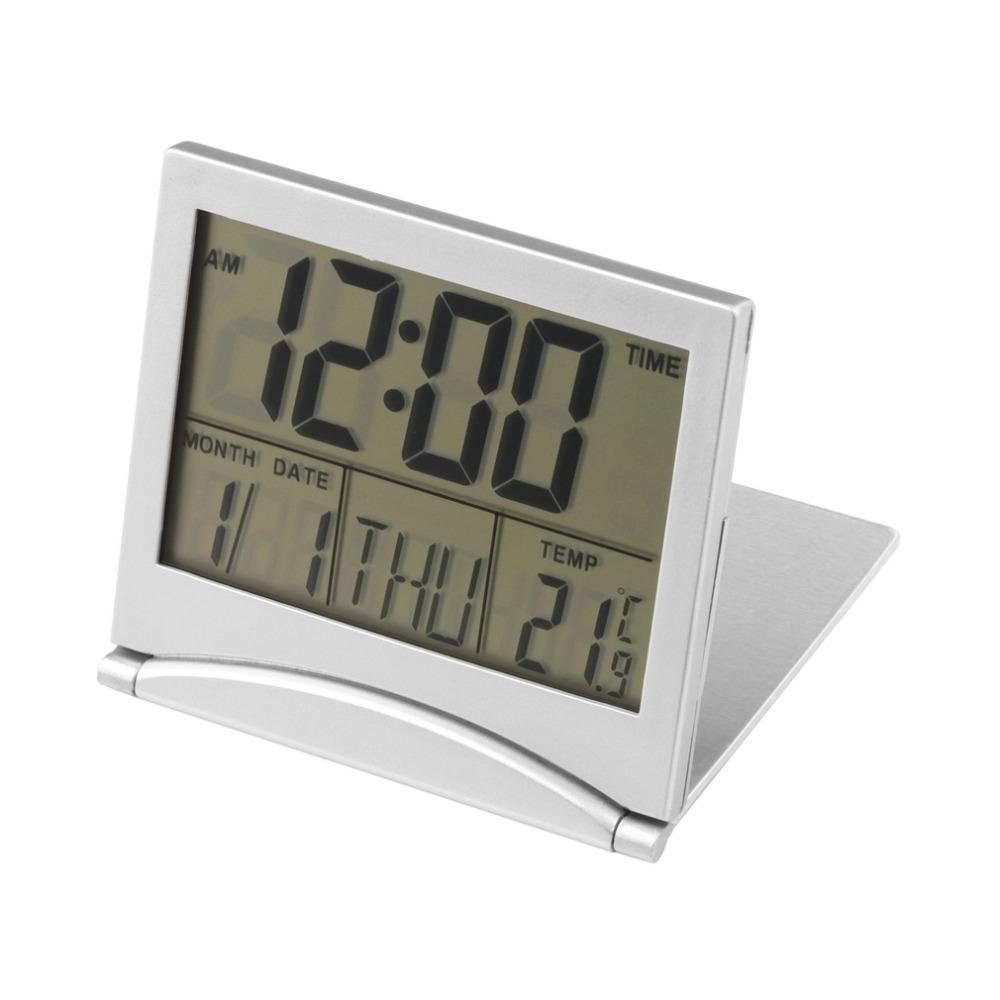 שעון מד טמפרטורה קומפקטי דיגיטלי מתקפל