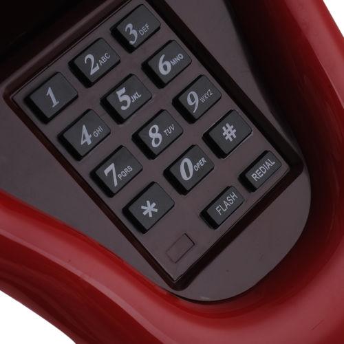 טלפון נייח מעוצב בצורת פה פתוח
