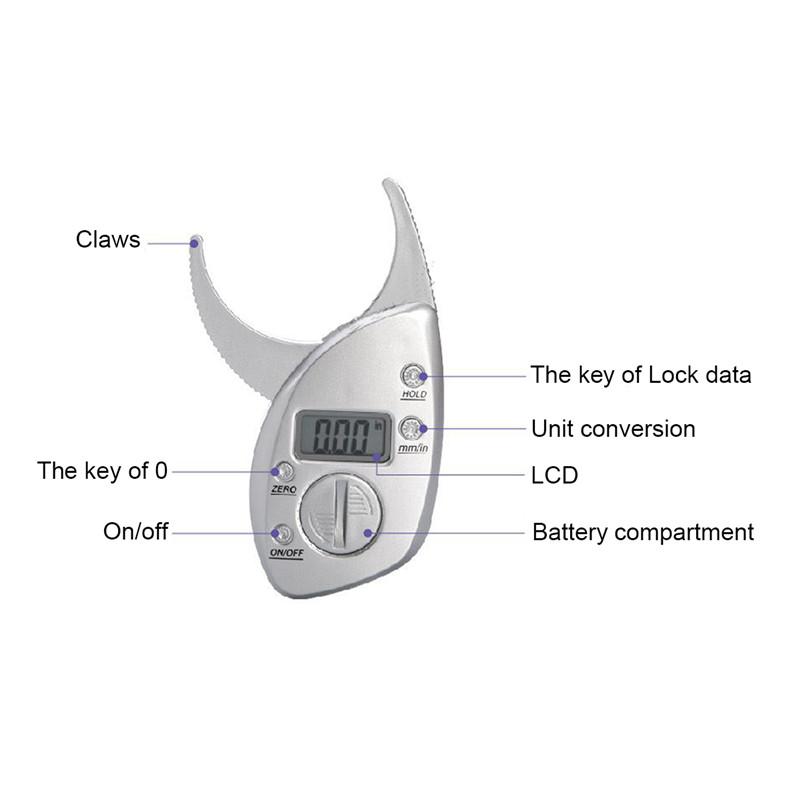 מד עובי אחוז שומן דיגיטלי קליפר