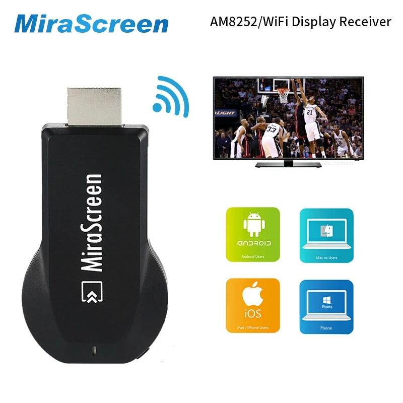 סטרימר אלחוטי לטלפונים סלולריים MiraScreen ANYCAST Wifi Dongle MiraScreen ANYCAST