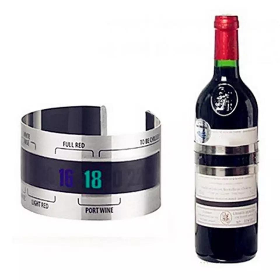 מד טמפרטורה דיגיטלי לבקבוק יין