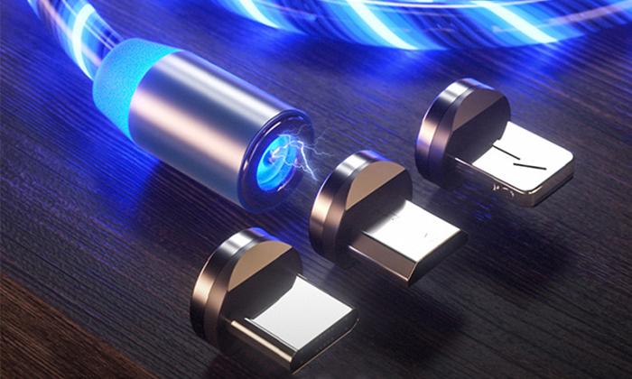 כבל מטען מגנטי מתאים לכל סוגי הטלפונים מסתובב 360