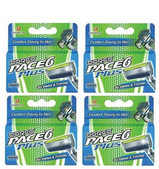 16 סכיני גילוח דורקו Dorco Pace6 Plus משלוח חינם
