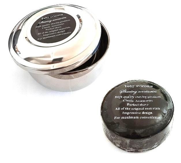 קערת גילח מנירוסטה כולל סבון גילוח קלסי