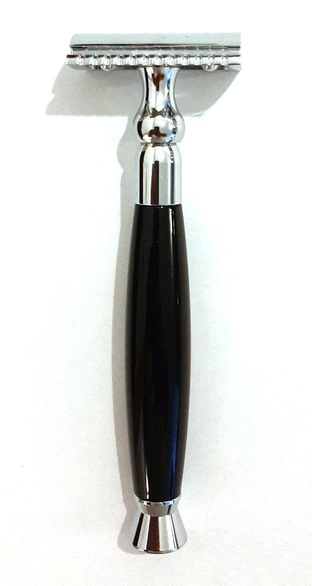 סכין גילוח איכותי קלאסית ידית שחורה TS47