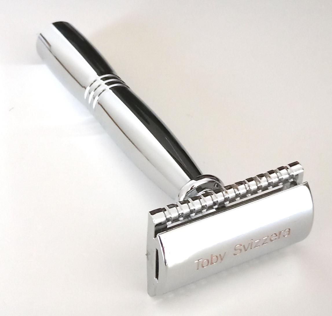 סכין גילוח קלאסית מלכותית כסופה TS50