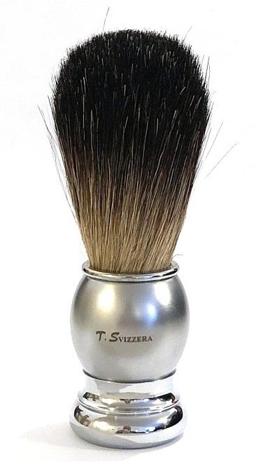 מברשת גילוח אמיתית Badger Pro כסוף