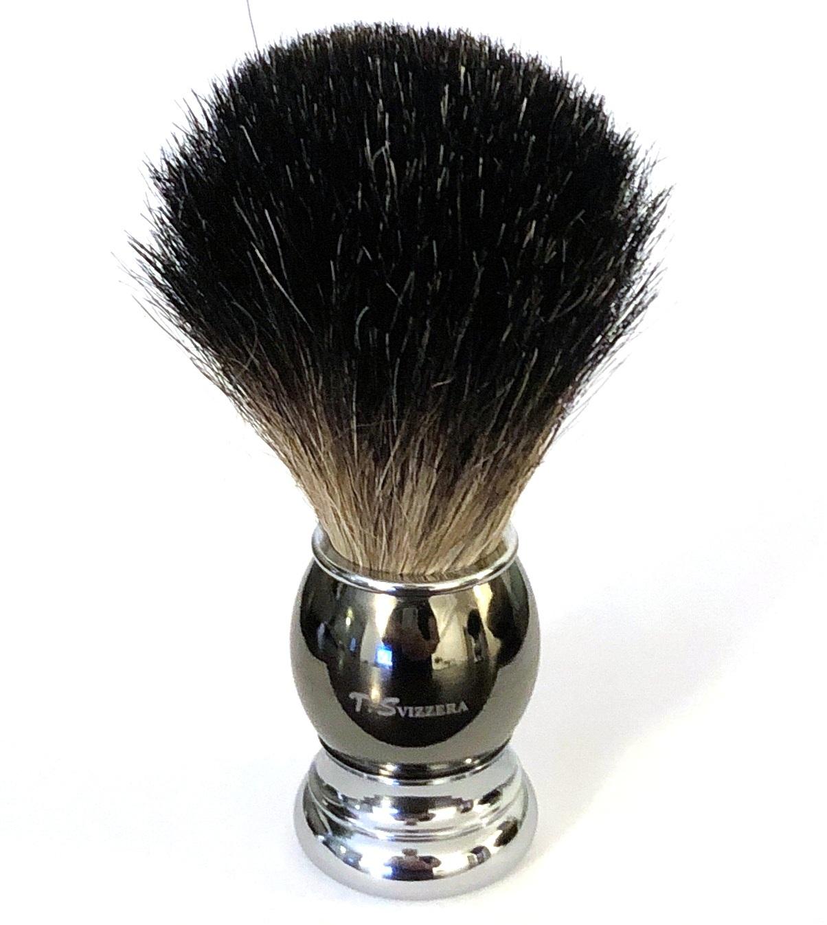 מברשת גילוח אמיתית Badger Pro שחור קריסטל