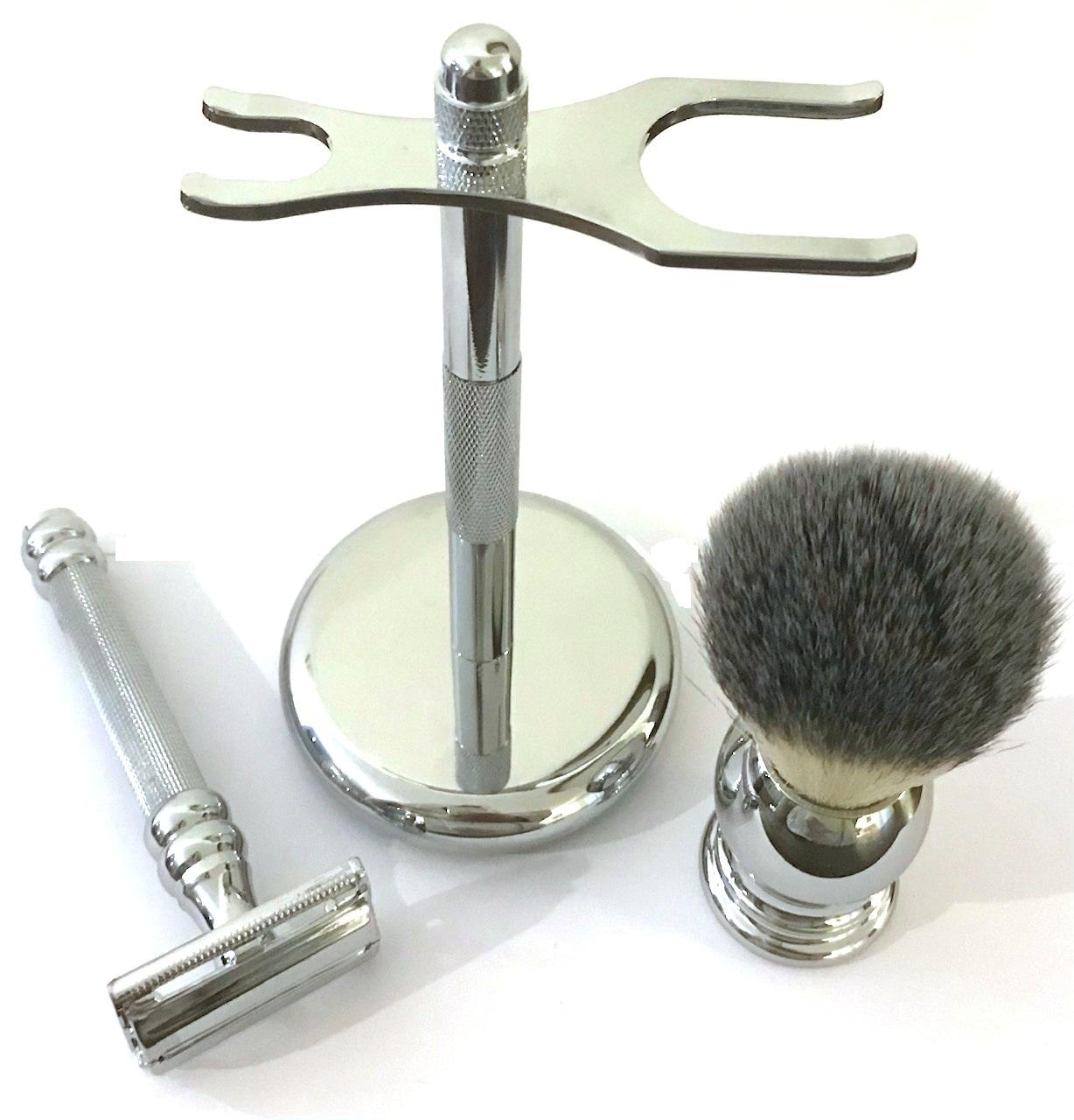 סט מוצרי גילוח כרום