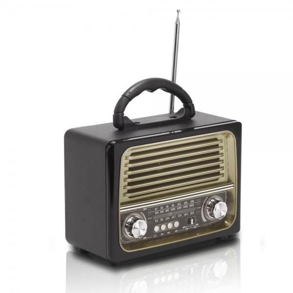 רמקול איכותי עם רדיו מובנה בטכנולוגיית בלוטוס' בעיצוב רטרו  דגם האוס