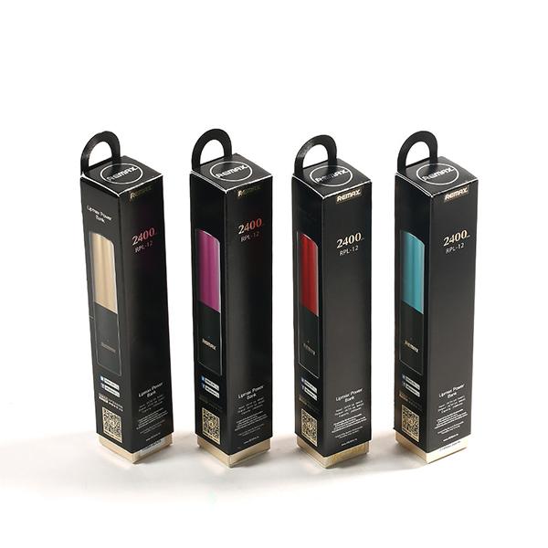 מטען פאוור בנק סוללת גיבויבעיצוב שפתון ליפסטיק  2400MAH דגם ליפסטיק