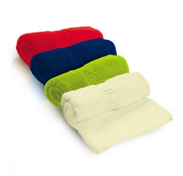 מגבת גוף  כותנה  עם עיטור דגם קצף ציבעוני