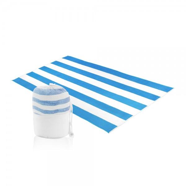 מגבת חוף מעוצבת עשויה בד מיקרופייבר עם פאוץ נשיאה דגם  אלמוג